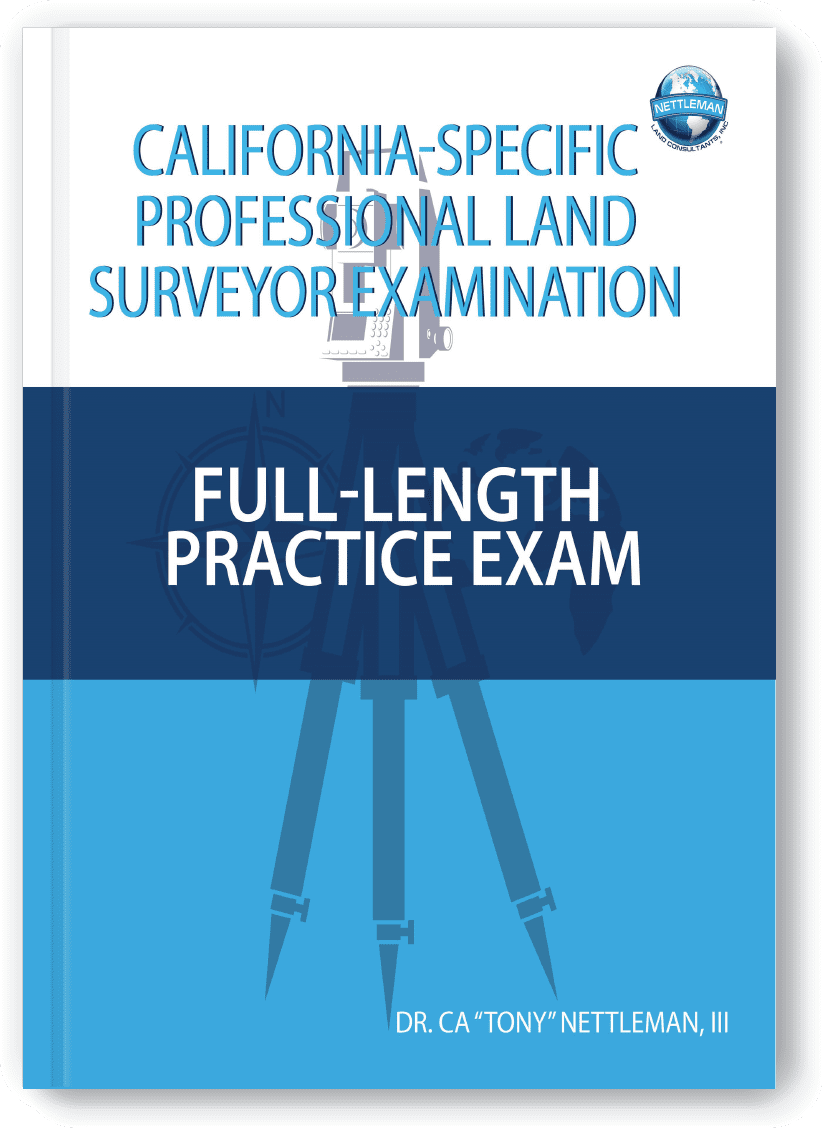 California Specific Professional Land Surveyor Exam Full Length Practice Exam