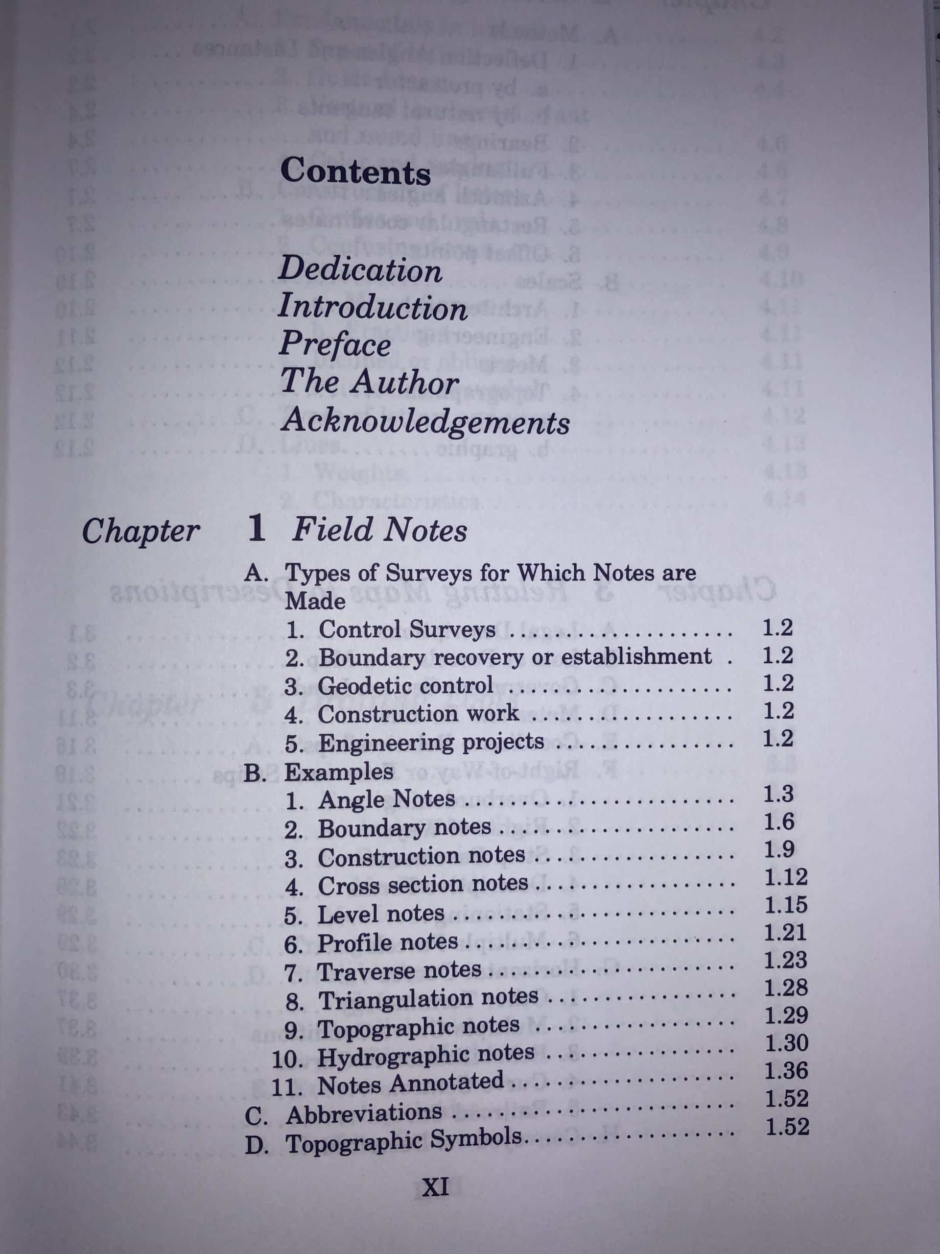 Chapter 1 Field Notes